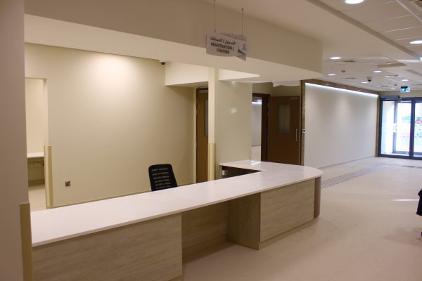 Latifa Hospital Reception Counter Office Furniture